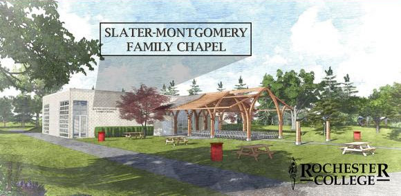 Artist drawing of Slater-Montgomery Family Chapel